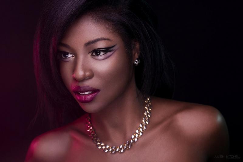 Female model photo shoot of KaliDaSkope Beauty and KimberlyDivad by JSMPhotography, makeup by KaliDaSkope Beauty