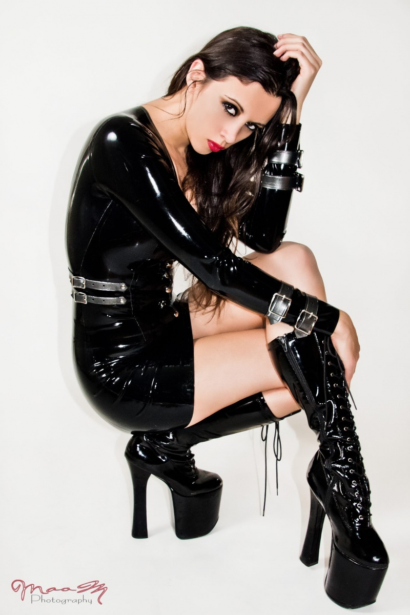 latex by madame s Jan 28, 2013 maom photography . kerri taylor latex buckle dress