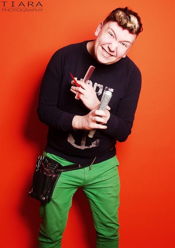 Male model photo shoot of JOB Hairdressing in Studio H