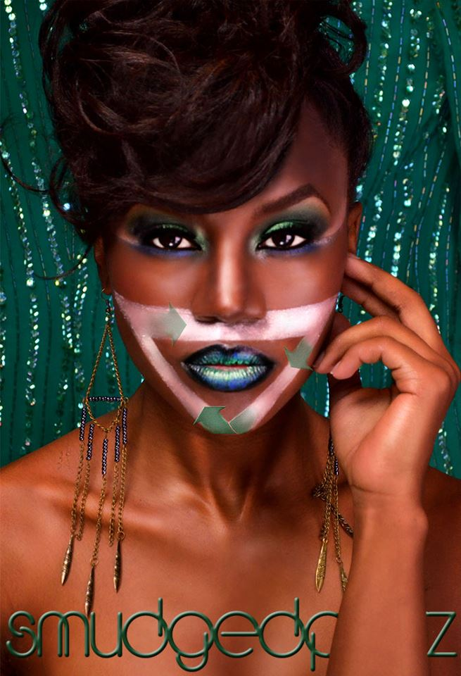 Female model photo shoot of Sharonda Smith, makeup by SMUDGED by R Bell
