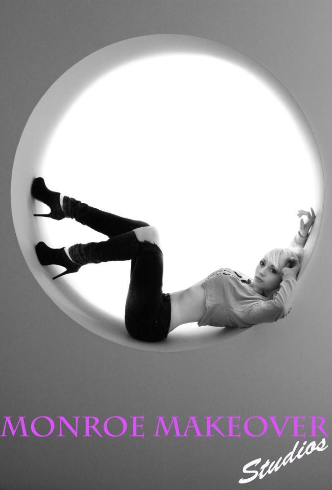 Female model photo shoot of Monroe Makeover Studios