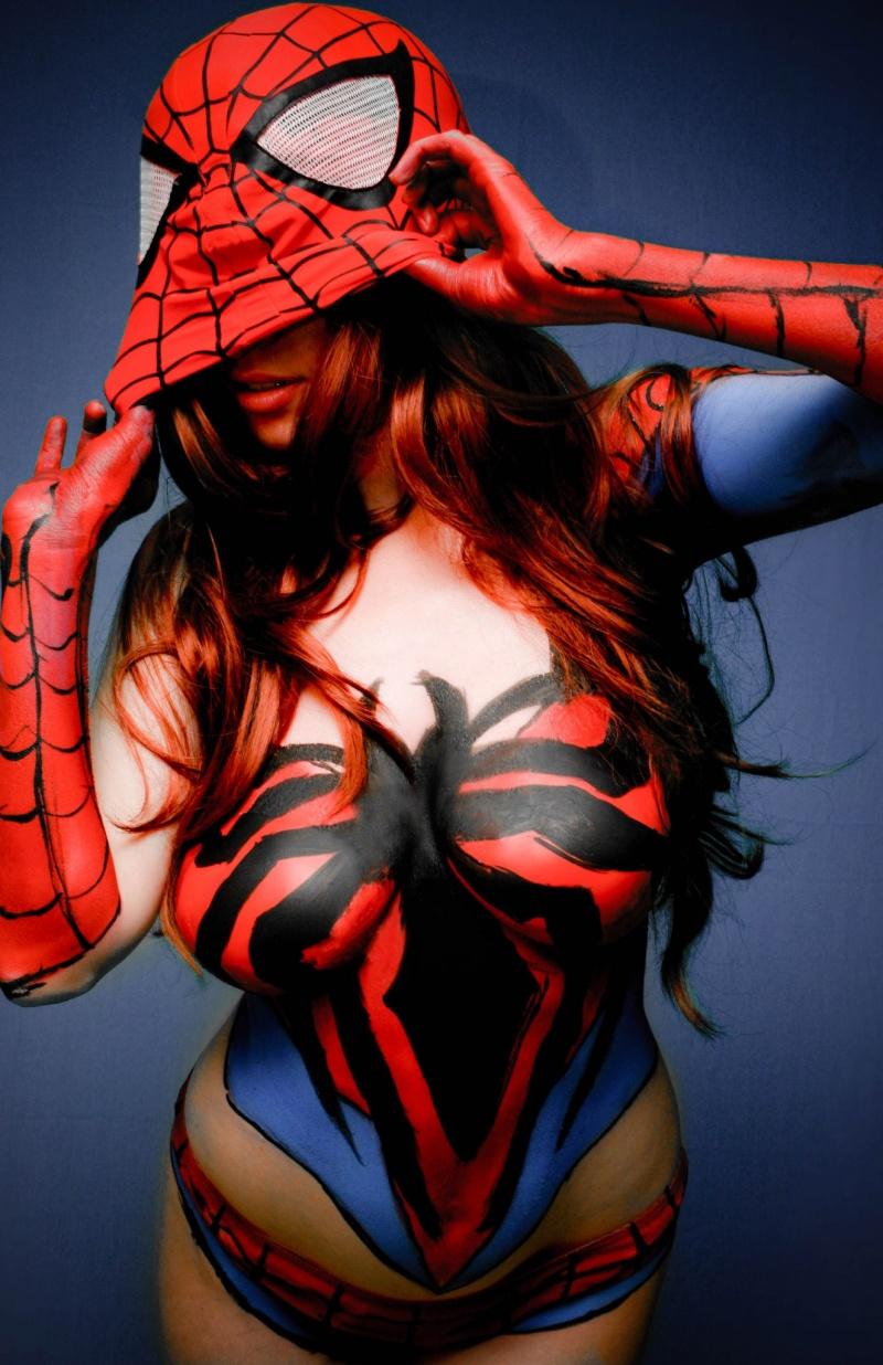 Feb 01, 2013 Bobby Monnerat, Emdhy Pino & Gary Wayne Spider-Man Body Paint
