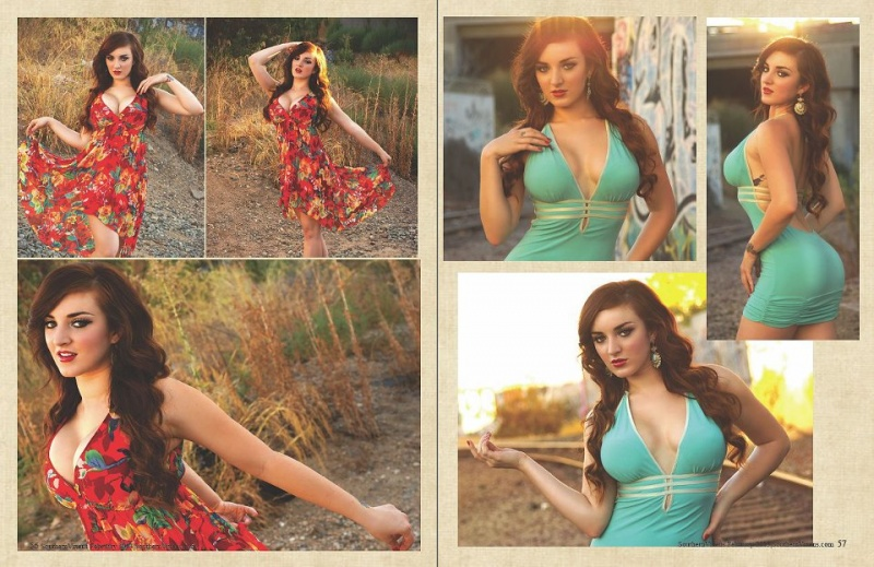Feb 02, 2013 6 Page Spread in Southern Vixens Magazine, February 2013. Photos: Daniel Navarrete, Makeup/Hair: Me