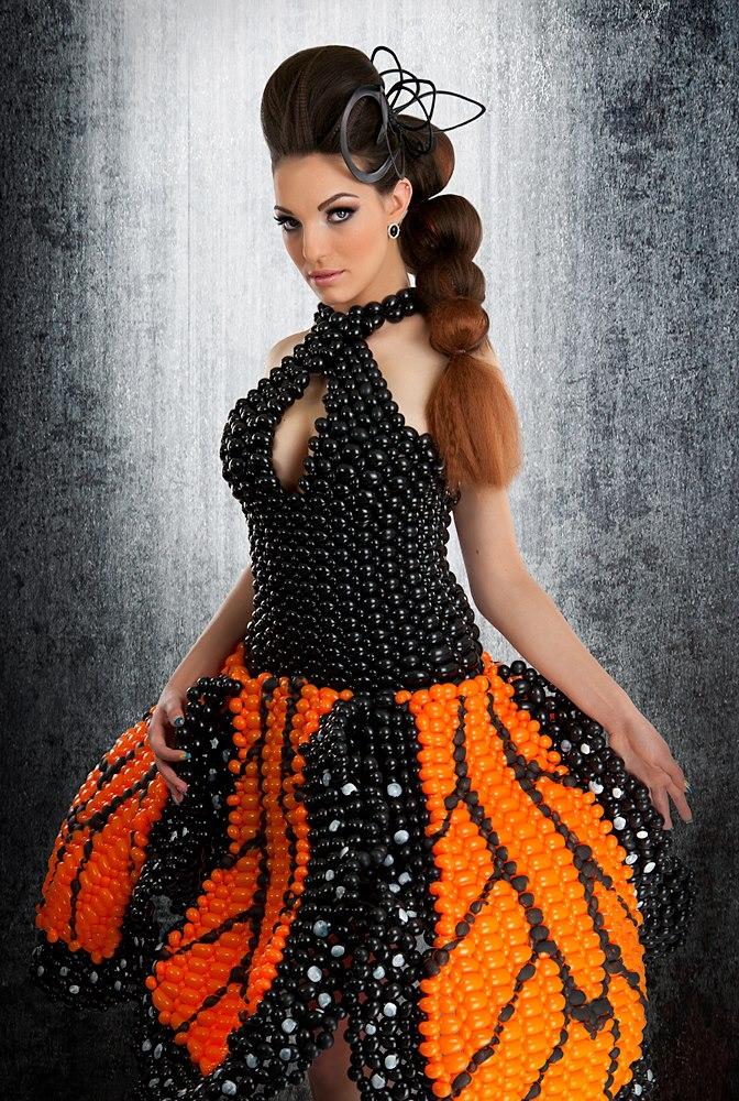 Female model photo shoot of Custom Balloon Dresses and Alayna Nicole by MJG Photography