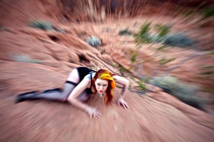 Female model photo shoot of Holly Von Sinn in Red Rock Canyon