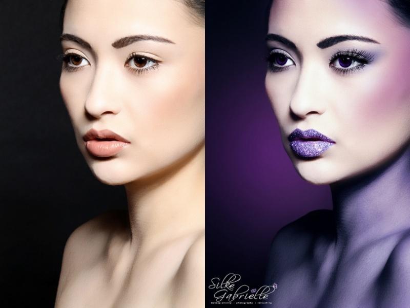 Female model photo shoot of Silke Touch and Lisa Kikui by Silke Gabrielle in Studio 709, makeup by Beauty by Silke