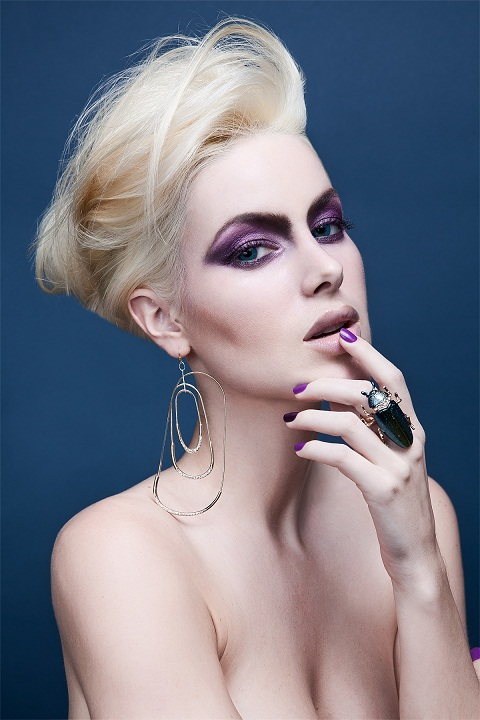 Female model photo shoot of Kris Erin Beauty