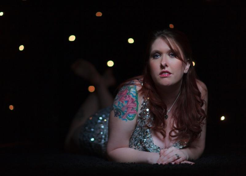 Female model photo shoot of GlitterEyes by Shawn Wilson - Photog in Tulsa, OK, makeup by Hardcore Glitter MUA