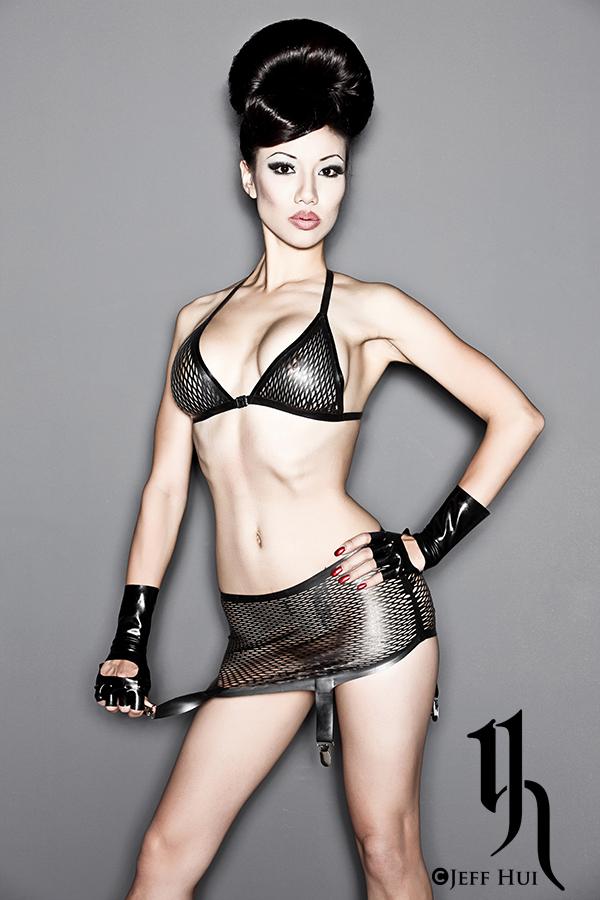 Female model photo shoot of Jade Vixen by Jeff Hui, clothing designed by Ego Assassin