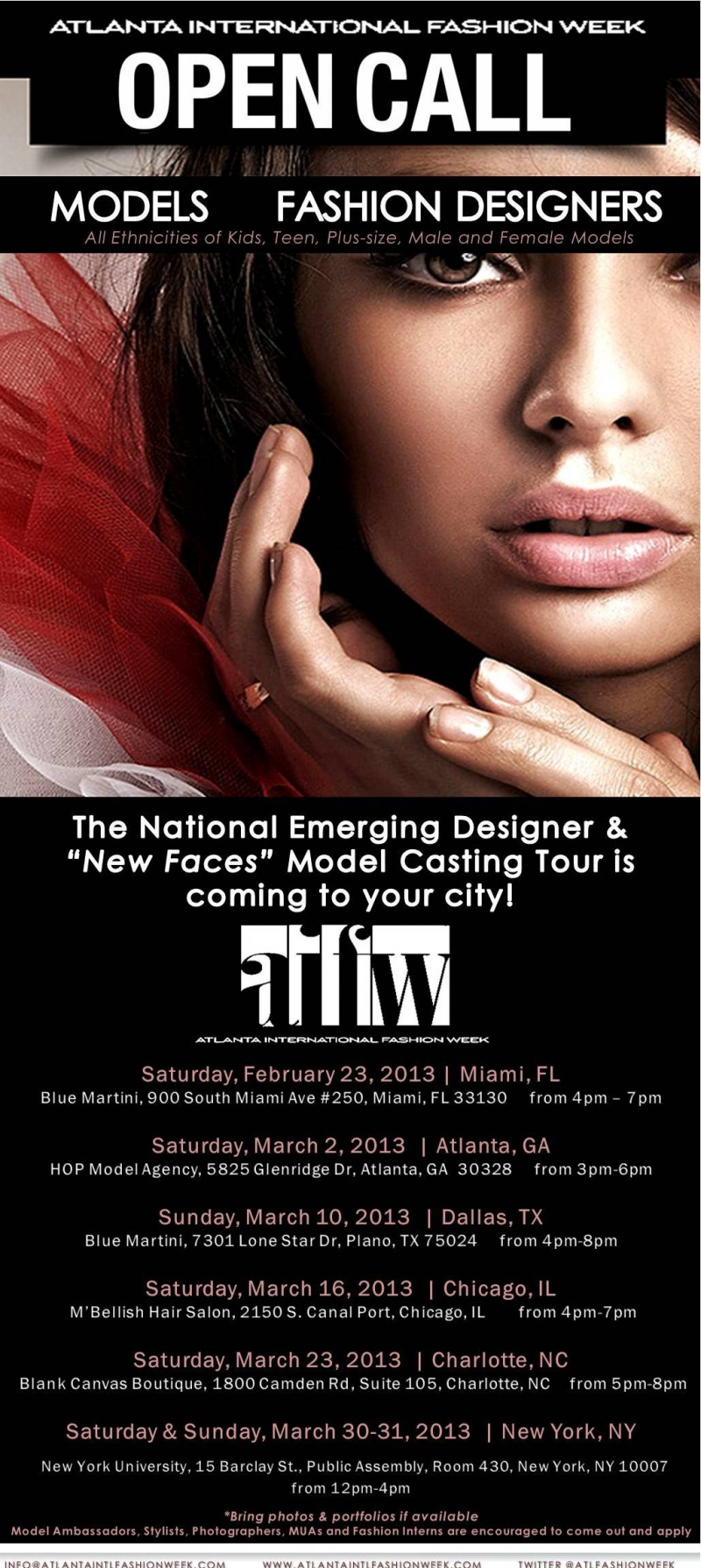 Atlanta International Fashion Week Open Call
