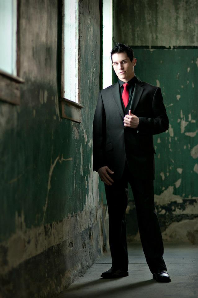 Male model photo shoot of Coran Rummler in The Old Pen in Boise Idaho