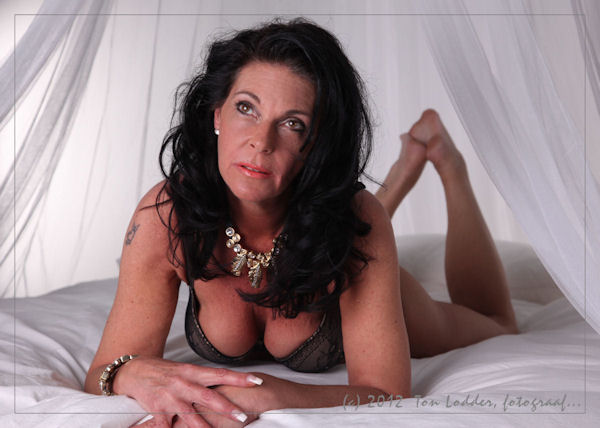 Female model photo shoot of loraine br in boudoir