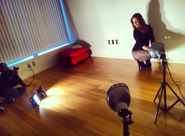Feb 24, 2013 on set