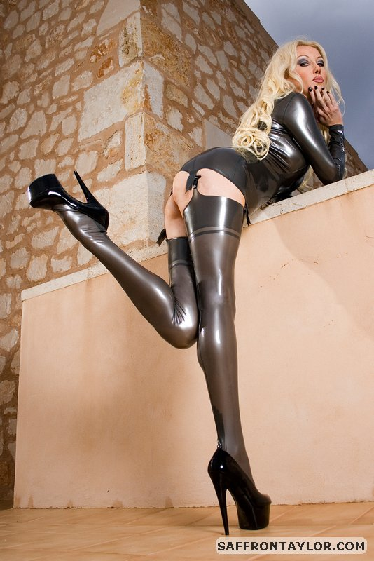 Mallorca, Spain Feb 26, 2013 (c) SaffronTaylor.com Sample from my Pewter Latex Princess photo series.  Latex by Simon O
