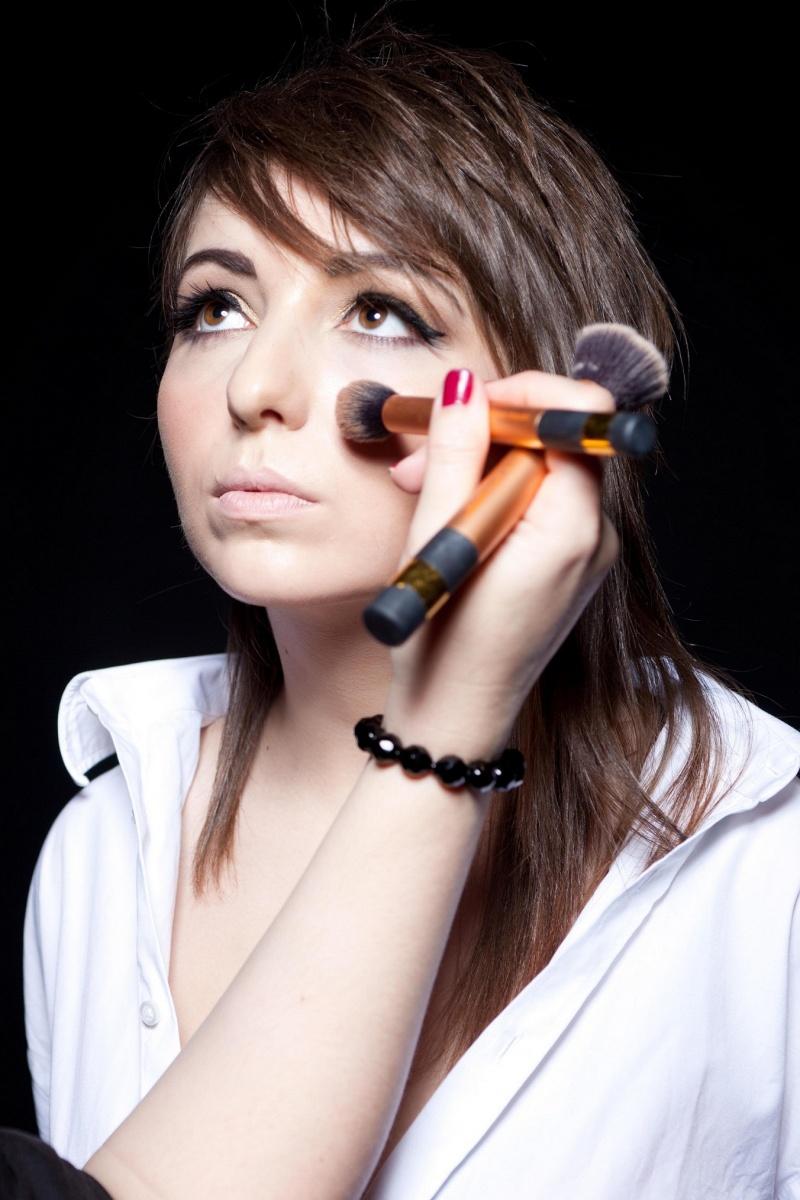 Female model photo shoot of Anna Make Up Artist in Edinburgh