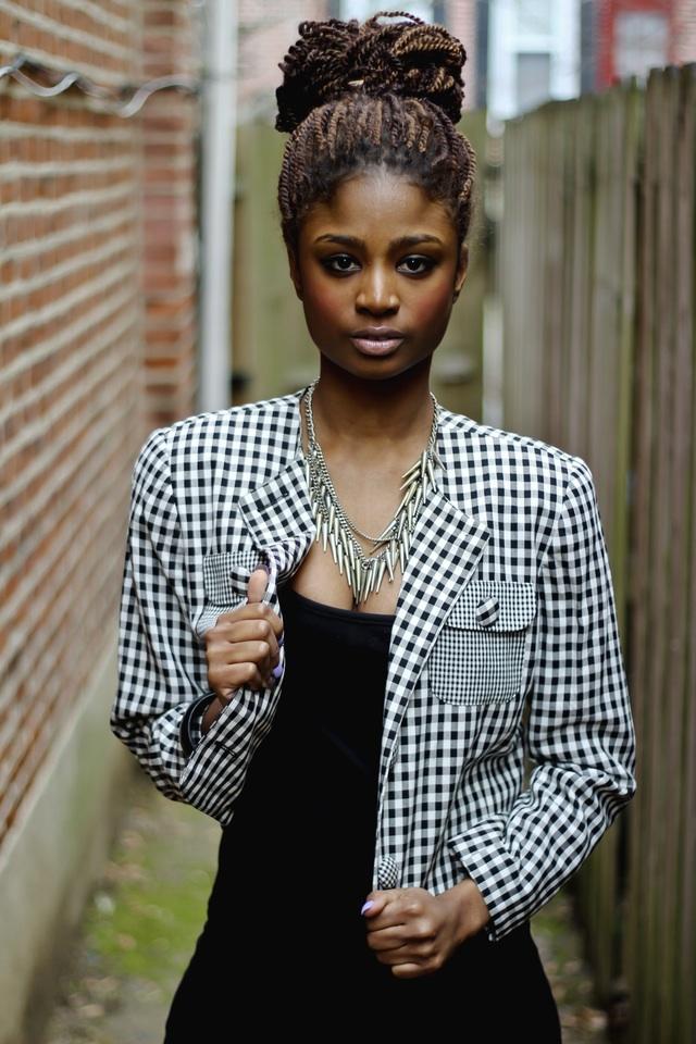 Female model photo shoot of Shea Baker by Taj Adu