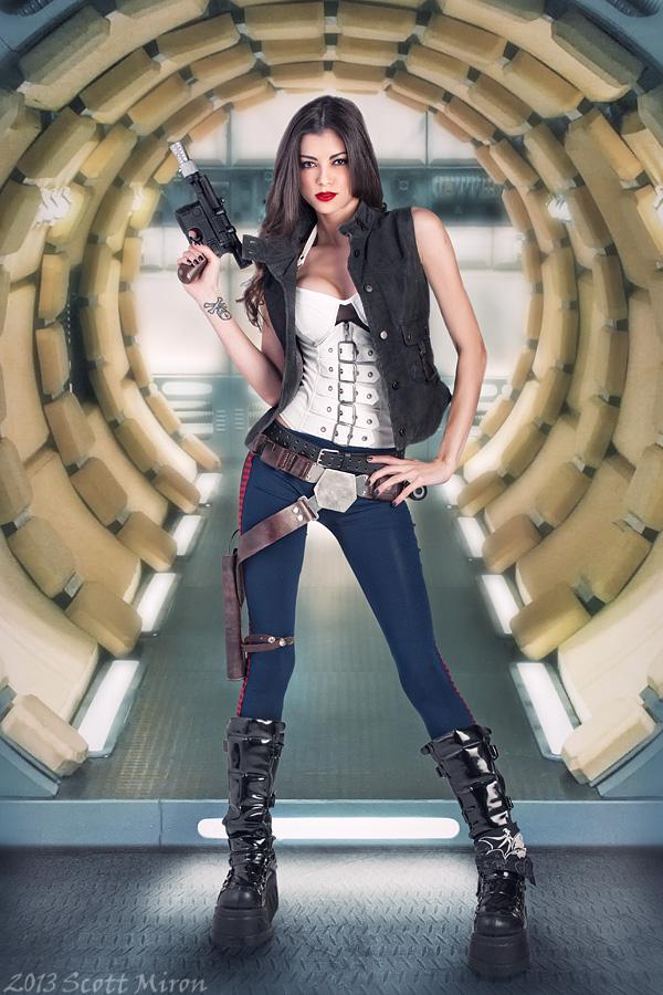 The Millenium Falcon Apr 16, 2013 2013 Scott Miron LeeAnna Vamp as Han Solo