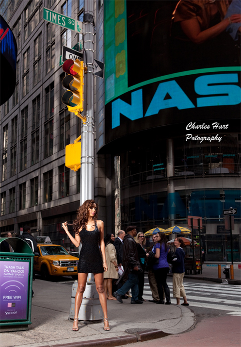 Times Square, New York City Apr 22, 2013 Charles Hart Photography Model Michelle  ( NYC Agency Represented )