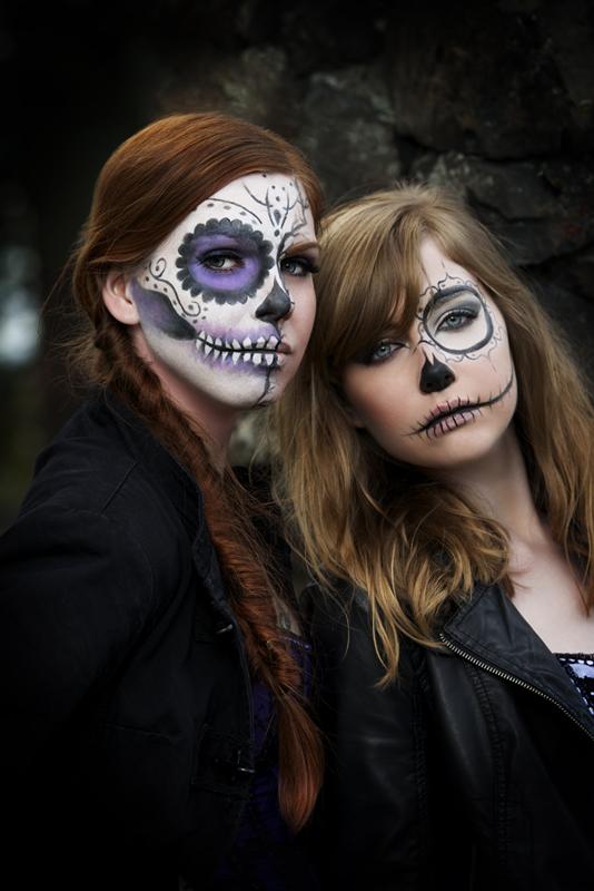 Spokane Apr 22, 2013 K&R Photography Brettny and Emily sugar skulls