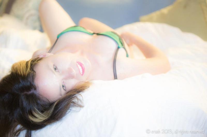 Female model photo shoot of Xceptional1 in at dj crashs house la