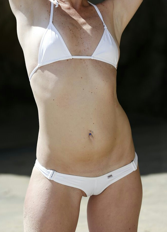 "Female model photo shoot of Xceptional1 in corona del mar, ""the wedge"""