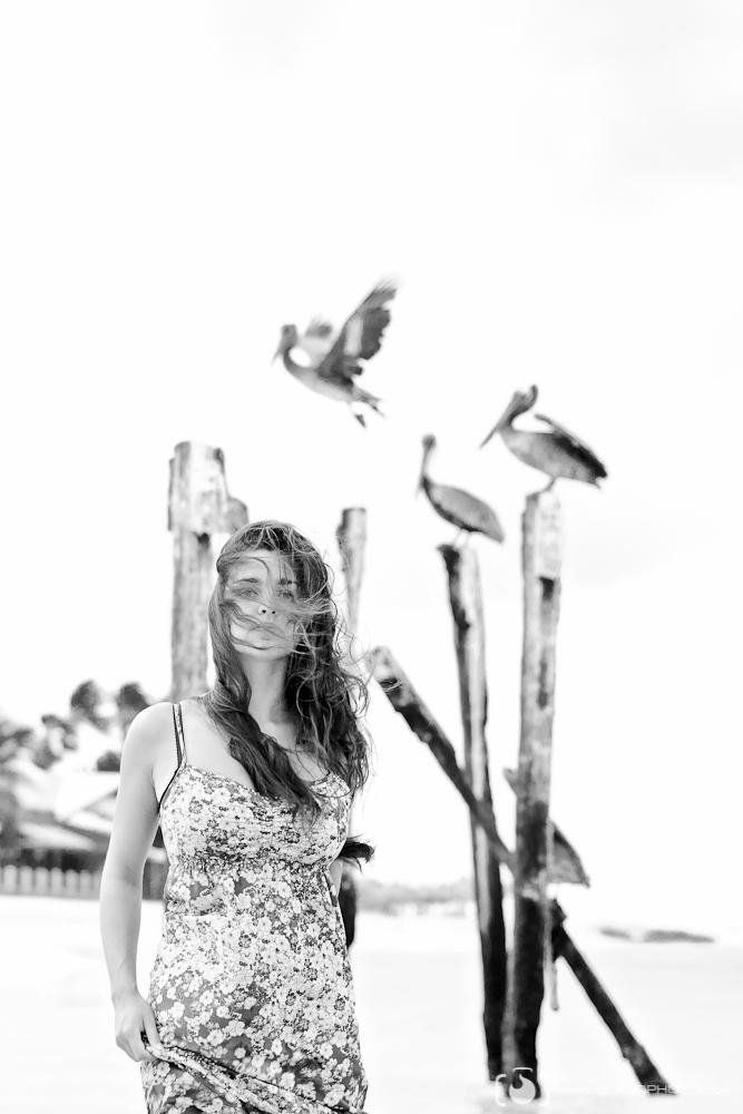 Aruba 2012 Apr 29, 2013 Steve Blazo Photography, Model Vanessa Black & White Breeze
