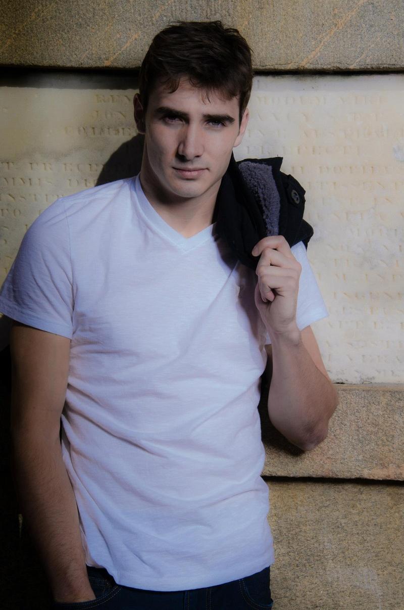 Male model photo shoot of Russell Gahagen in USC Horseshoe