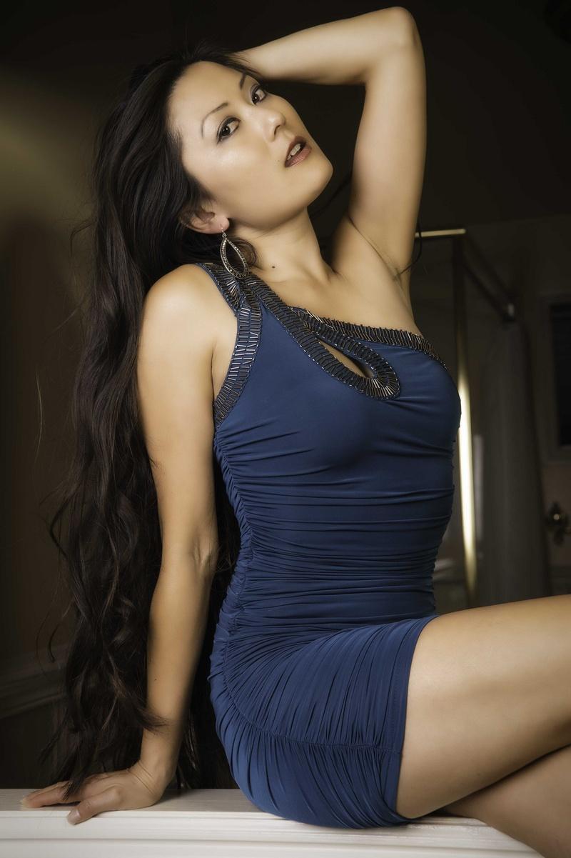 Asian Style Long Black Dress Hot Girls Wallpaper