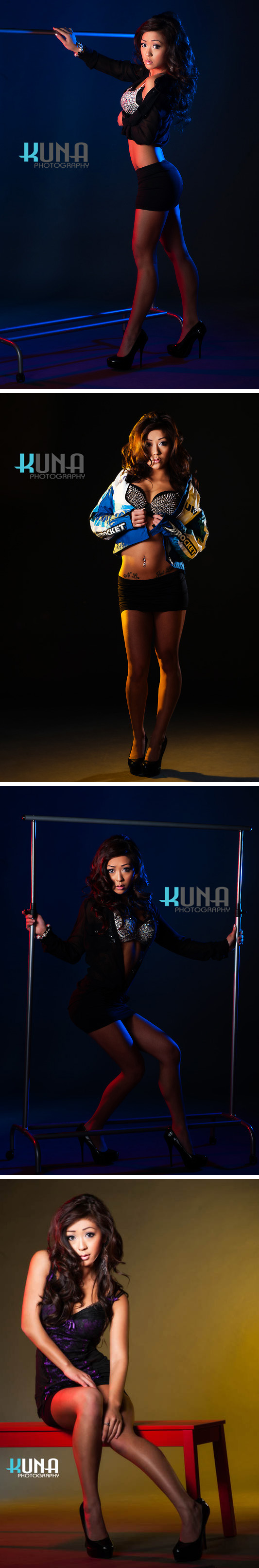 Male and Female model photo shoot of Kuna Photography Group and debbieL in Studio