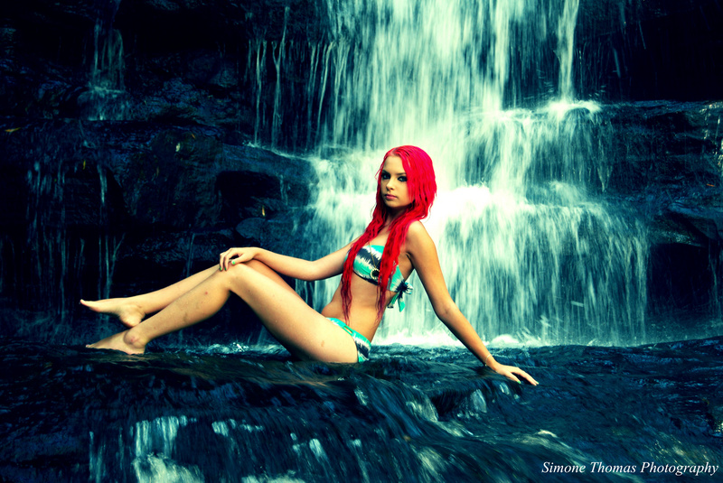 Female model photo shoot of simone thomas in sumersby falls