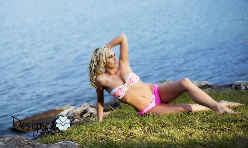 Female model photo shoot of Designed Photography and Miss Stacey Grace in Balmoral Beach, NSW, makeup by Anna Poshe