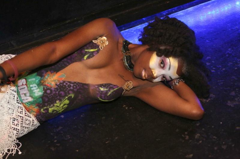 Female model photo shoot of Samanta Romain in Museum Bar, ATL