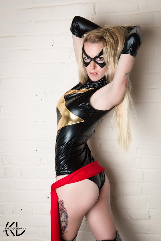 May 26, 2013 Ms. Marvel cosplay made by me. Credit - KennyLee Photography