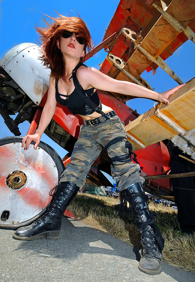 Chino CA Jun 06, 2013 SM Shot of Shodire and the Red Baron at the Chino Airshow.