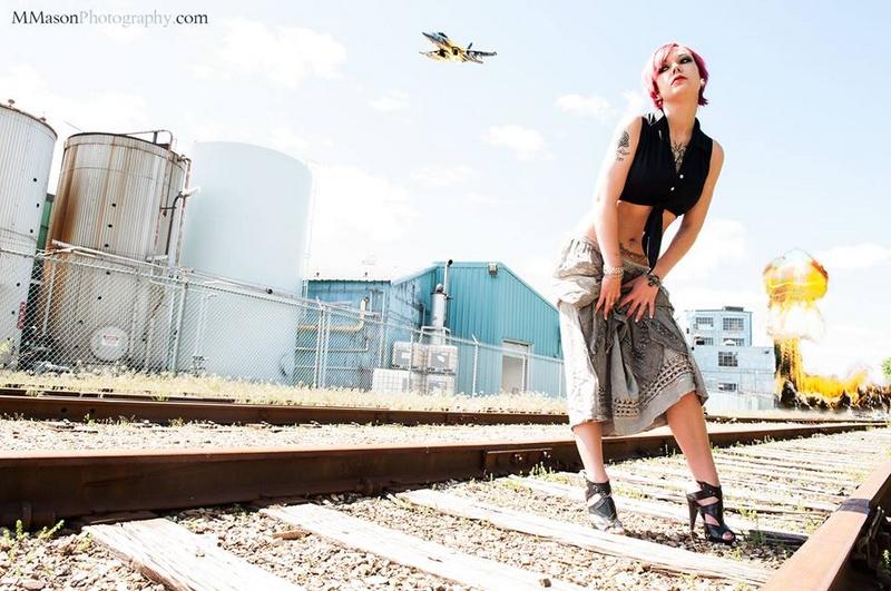 Female model photo shoot of Lina Inverse  by MikeMasonArt in Brant st. Bridge, Burlington