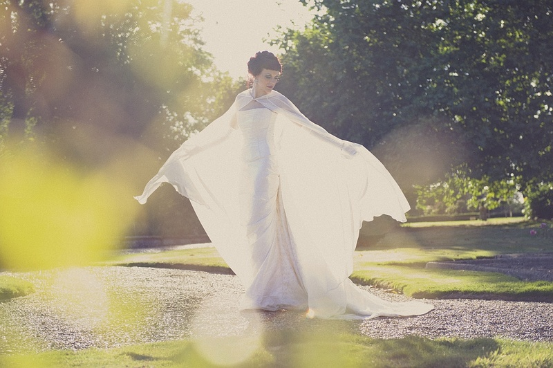 Kent, United Kingdom Jun 10, 2013 Martin Hobby Ghostly Classic Bridal Shoot