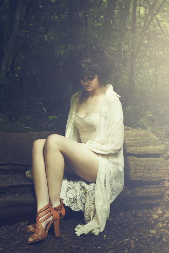 Female model photo shoot of Jana Astanov in Highgate park, London