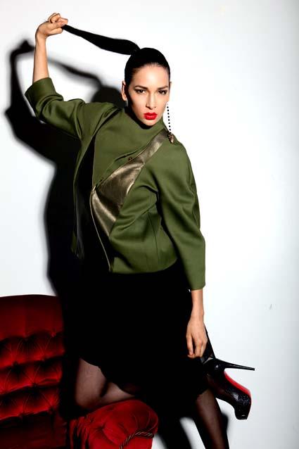 Female model photo shoot of Jana Astanov in Platform Bar, Shoreditch, London