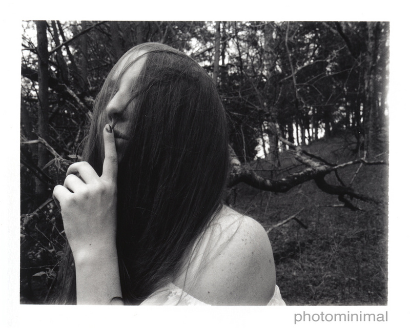 Male and Female model photo shoot of photominimal and Jade Strange X in Woodbury, TN / Polaroid Automatic 100 / Fuji FP3000b