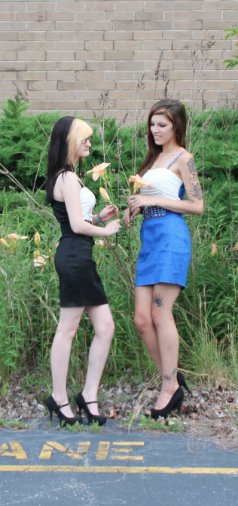 Female model photo shoot of Alyssa Podaras and Merrill White by Cadence Umbrella