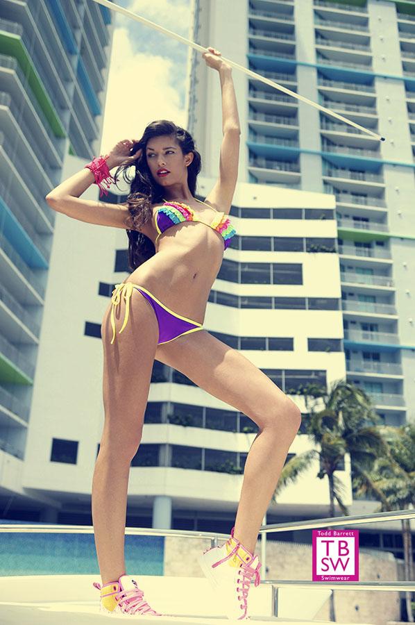 Miami Beach, Fl Jun 22, 2013 www.Toddbarrettswimwear.com LeAnn Rene Crupi, Wilhelmina Models, photographer Todd Barrett
