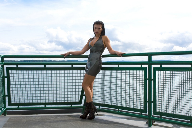Male and Female model photo shoot of Patrick Andraste and Xesia in Washington State Ferry