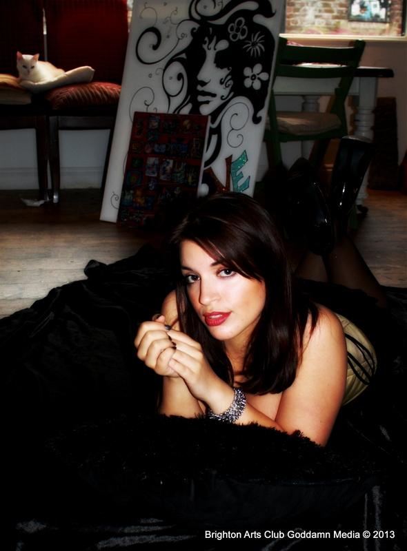 Female model photo shoot of Skye de la Mare