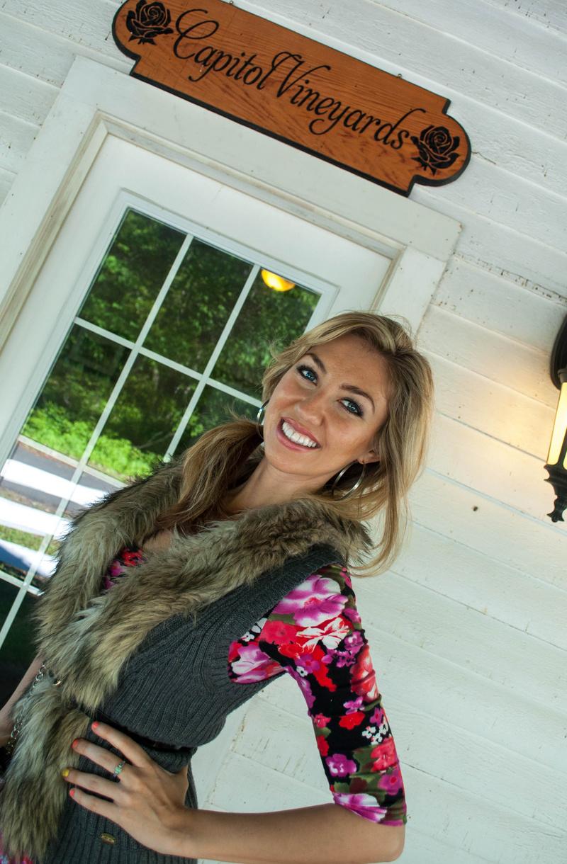Female model photo shoot of Cassandra Payne in Capitol Vineyards