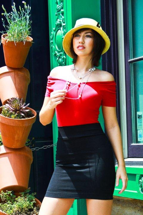 Female model photo shoot of Cassandra Payne in Old Town Lynchburg