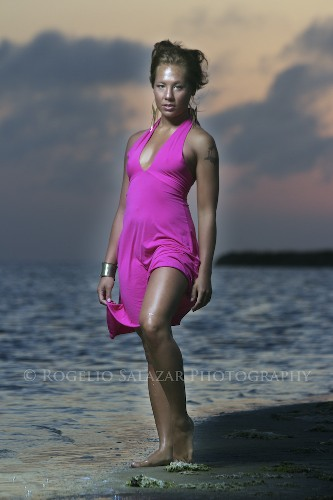 Male and Female model photo shoot of Rogelio Salazar and sroeCHInee in South Padre Island, TX