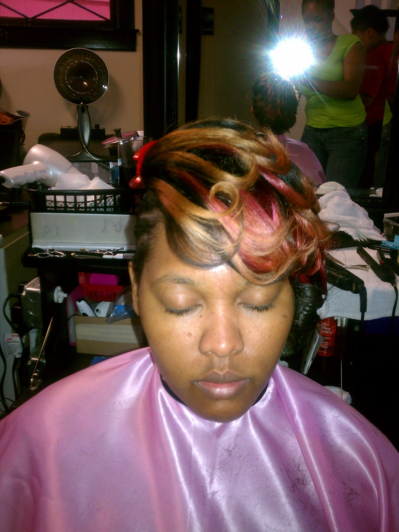 Female model photo shoot of StylesByTiffany in Picture Perfect Salon, LLC