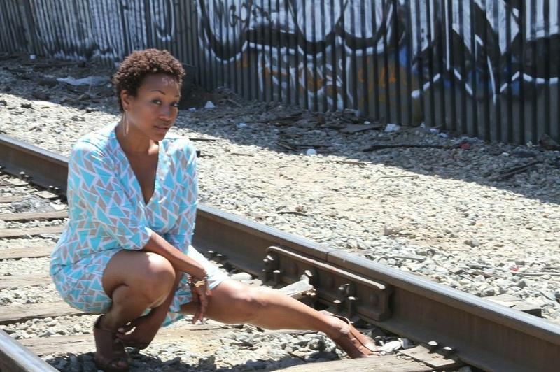 Alameda- downtown LA  Jul 11, 2013 train tracks