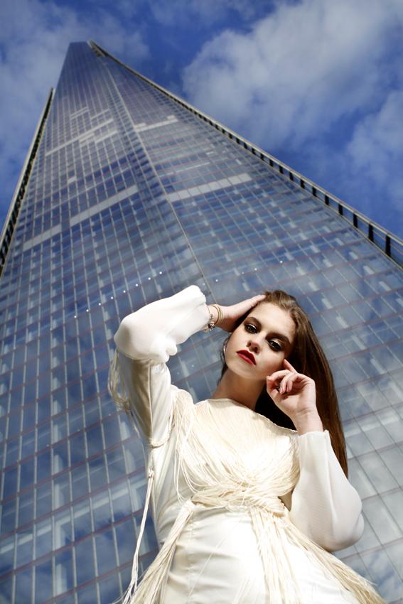 Female model photo shoot of Jana Astanov in By the Shard, London