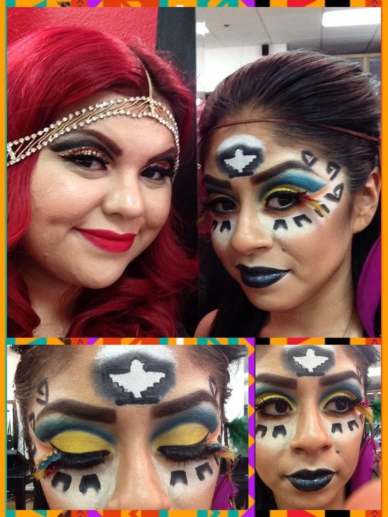 Female model photo shoot of Crystal Villa Vargas  in Ruby makeup Academy Upland, California